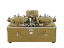 máy lọc dầu nén khí hai bầu vàng